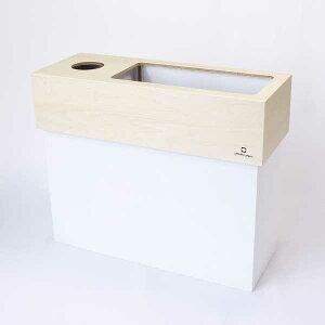 YK15-006dust&tissuecaseCUBEダスト&ティッシュケースキューブゴミ箱屑箱ダストBOXミドルタイプ木目北欧風ヤマト工芸