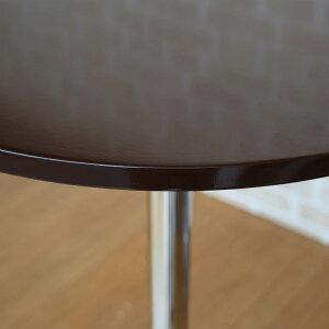 WY-208トップテーブルカウンターテーブルハイテーブルハイカウンター丸型ブラックブラック/ホワイト