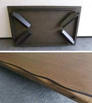 【送料無料】清里150折脚DBR/LBR座卓リビングテーブル折れ脚モリモクもりもく天然木ローテーブルちゃぶ台卓袱台