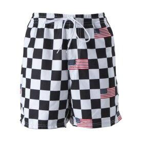 【VANSウェア】CHECKER FLAG VOLLEY ヴァンズ ショーツ VN0A453HV5T CHECKER FLAG
