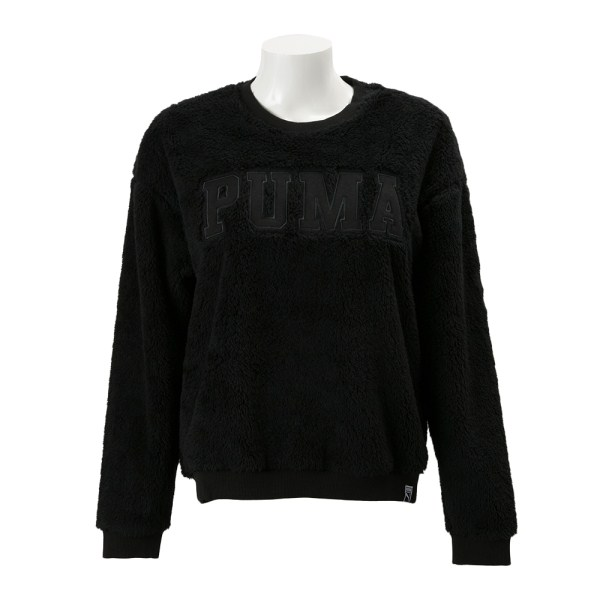 レディース 【PUMAウェア】 プーマ TEDDY クルースウェット 572261-01 16HO 01PUMA BLACK