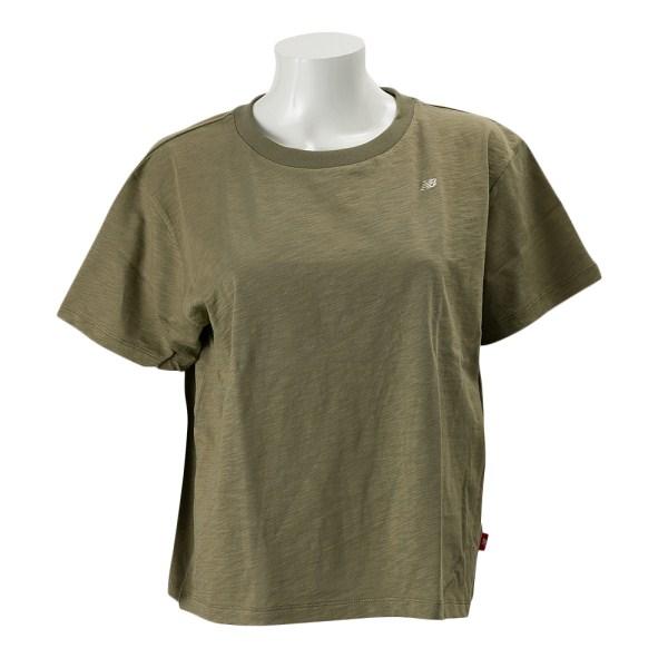 レディース 【NEW BALANCEウェア】 ニューバランス ボックスTシャツ JWTL7218CGN 17SS コバルトグリーン(CGN)