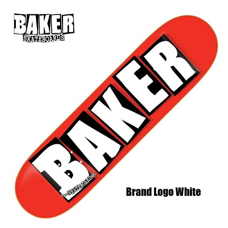 BAKER ベーカー BRAND LOGO ブランドロゴ 8.125×31.25 インチ White デッキテープ無料サービス! SKATEBOARD スケートボード スケボー DECK デッキ