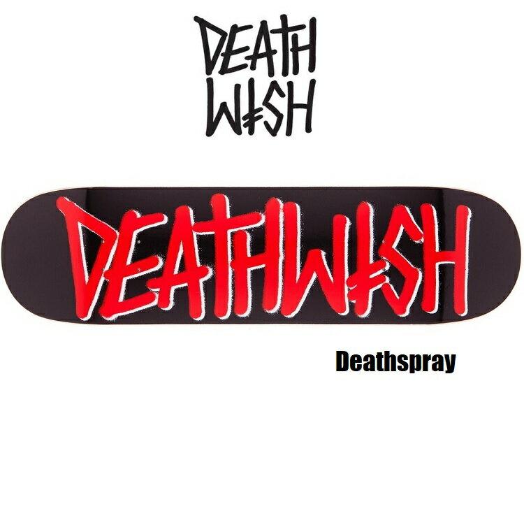 Deathwish デスウィッシュ DeathSpray デススプレー 8.25×31.5 インチ RED デッキテープ無料サービス! SKATEBOARD スケートボード スケボー DECK デッキ