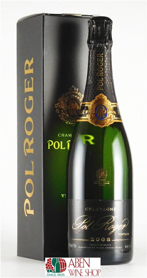 ポル・ロジェ・ブリュット・ヴィンテージ  [2008]年(ギフト箱入り/750ml)【スパークリングワイン】【発泡】【白ワイン】【辛口】