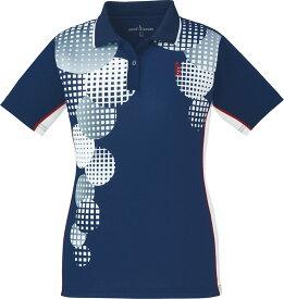 取寄せ品 【ゴーセン】 レディースゲームシャツ (T1803) 17 ネイビー XL