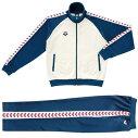 【アリーナ】トレーニングジャケット&パンツ(ASP-5107AASP-5108PA)WNVホワイト×ネイビーホワイト・レッド