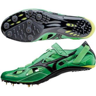 CHRONO INX 9 Spike and Mizuno shoes / 09 green spike /MIZUNO (U1GA1501) × black