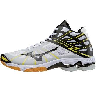 Wave lightning Z MID Valley shoes /MIZUNO (V1GA1505) 08 white / black/Volt