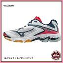 【ミズノ】ウエーブライトニング Z3  バレーシューズ ミズノ/バレーボール/スポーツ/MIZUNO (V1GA1700) 14 ホワイト×ネイビー×ピンク