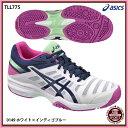 【アシックス】LADY GEL-SOLUTION SLAM 3 OC レディゲルソリューションスラム3OC/オムニ・クレーコート用/テニスシューズ/asics (TLL775) 0149 ホワイト×イ