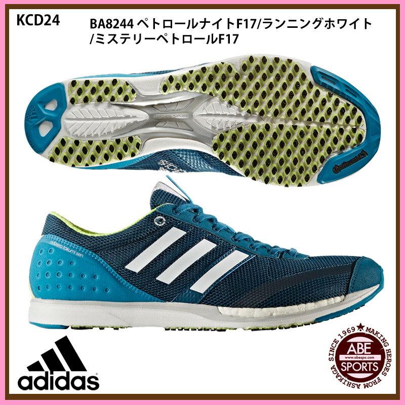 【アディダス】 adiZERO takumi sen BOOST 3 ランニングシューズ アディゼロ/adidas (KCD24) BA8244 ペトロールナイトF17/ランニングホワイト/ミステリーペトロールF17