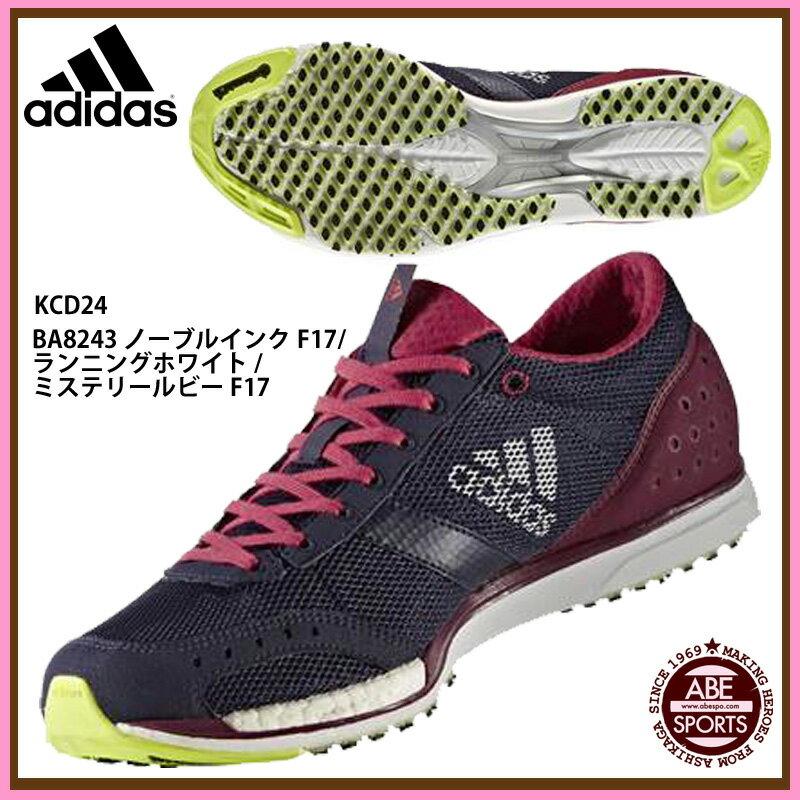 【アディダス】 adiZERO takumi sen BOOST 3 ランニングシューズ アディゼロ/adidas (KCD24) BA8243 ノーブルインクF17/ランニングホワイト/ミステリールビーF17