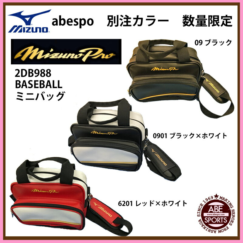 【ミズノ】別注カラー ミニバッグ スポーツバッグ/野球バッグ/abespo別注カラー/MIZUNO (2DB988)