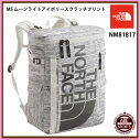 【THENORTHFACE】BCFuseBox2スポーツバッグ/アウトドア/ヒューズボックス/ノースフェイスバッグ(NM81817)MSムーンライトアイボリースクラッチプリント
