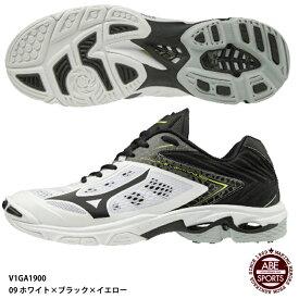 【ミズノ】ウエーブライトニング Z5 バレーボールシューズ/バレーシューズ/mizuno (V1GA1900) 09 ホワイト×ブラック×イエロー