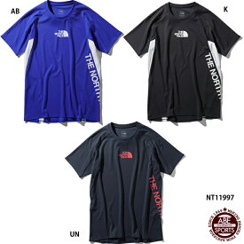 ネコポス選択可【THA NORTH FACE】S/S FLASHDRY Racing Crew ショートスリーブフラッシュドライレーシングクルー/Tシャツ/半袖/ノースフェイス (NT11997)