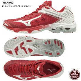 【ミズノ】ウエーブライトニング Z5 バレーボールシューズ/バレーシューズ/mizuno (V1GA1900) 01 レッド×ホワイト×シルバー
