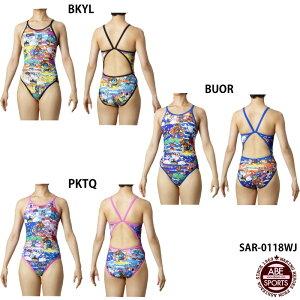 ネコポス選択可 【アリーナ】 スーパーフライバック ジュニア女子水着/キッズ/子供/タフスキン/トレーニング水着/練習用水着/arena (SAR-0118WJ)