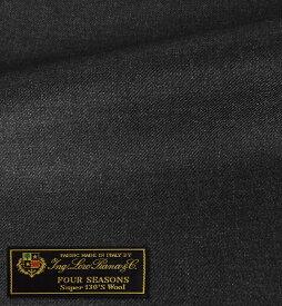 【最大44倍】オーダースーツ [ブランド] LORO PIANA ロロピアーナ / FOUR SEASONS [色] チャコールグレー(濃いめのグレー) [柄] 無地 [品質] スーパー130'S ウール100% woven in Italy [イタリア生地][秋冬向け][送料無料]