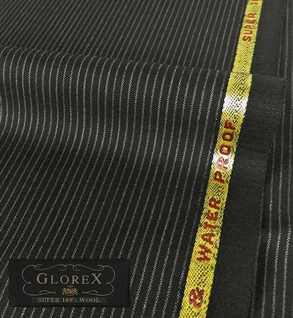 オーダースーツ [ブランド] GLOREX グロレックス [色] チャコールグレー(黒に近い) [柄] ストライプ [品質] スーパー100's ウール100% , 撥水 , ナチュラルストレッチ [英ブランド][春夏向け][送料無料]02P06May15 fs04gm