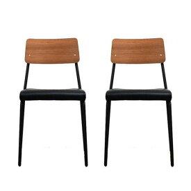 チェア スタッキングチェア いす 椅子 2脚セット セット インダストリアル 布チェア スタッキング アイアン レトロ アンティーク ダイニングチェア オフィスチェア PCチェア 北欧 シンプル モダン