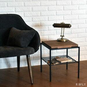 サイドテーブル スツール いす チェア インダストリアル カフェ パイン無垢使用 古木風仕上げ スチール椅子 スチール 棚付き 収納スペース アイアン アンティーク 北欧 ヴィンテージ レトロ