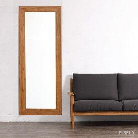 ウォールミラー スタンドミラー 姿見 全身鏡 壁立て 掛け式 チーク 無垢 木製 リビング 玄関 寝室 北欧 ナチュラル カントリー 大型鏡 ミラー クラシカル シック シンプル アンティーク モダン 天然素材 高級 気品/