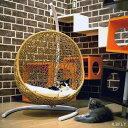 ペット用 ハンギング ベッド ハンモック ゆりかご椅子 人工ラタン クッション付き 籐 リゾート ガーデン 屋外 庭 ナチュラル ホワイト ブラック ダークブラウン 犬 猫 ドッグ キャット にゃんこ
