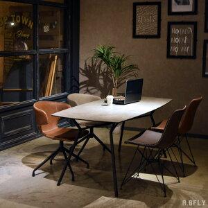 セラミック ダイニングテーブル 幅170cm 4人用 食卓 テーブル 作業台 テーブル単品 会議室 飲食店 カフェ ショップ什器 黒スチール脚 インダストリアル ブルックリン アメリカン カフェ 天然
