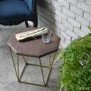 ソファーサイドテーブル カフェテーブル ナイトテーブル ミニテーブル 八角形 北欧 西海岸 シャビー ミッドセンチュリ…