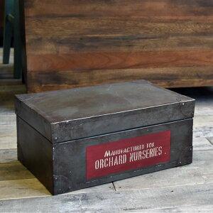 ツールボックス 箱 工具入れ アンティーク 蓋付きボックス ガーデニング収納 シャビー家具雑貨 インダストリアル 北欧 レトロ モダン