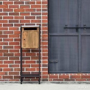 ポスト 鍵付き 郵便受け 置き型ポスト 郵便ポスト スタンドタイプ スタンド 宅配ボックス 一戸建て用 大容量 新聞受け 北欧 スタンドポスト フラワースタンド レトロ アイアン 鉄 アンティ