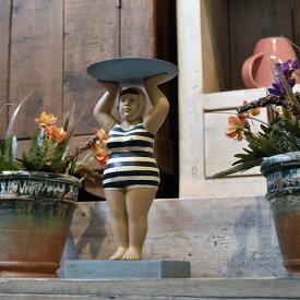 アクセサリー置き 置物 キャンドルホルダー ビーチマダム おもしろ雑貨 個性的 マリン雑貨 飾り 海 プール ヨット ビーチ フレンチ 船 水着 人形 アンティーク家具雑貨 カフェ 北欧風 レトロ モダン マリン