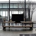テレビボード 幅180cm ローボード TV台 TVシェルフ オールドパイン無垢材 棚 ディスプレイラック オープンラック オー…