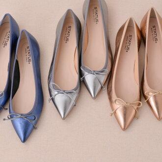 地位尖脚趾和金属皮革平板鞋 (可爱的鞋子鞋子时尚礼服 30 年代 40 年代正式成人休闲女装女士大礼物礼物前卫)