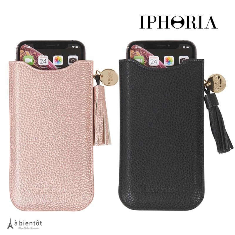 【IPHORIA】アイフォリア ネックレススマホケース (iPhone スマートフォン スマホ レッド iPhone6 7 8 X XS XR ピンク ブラック 黒 かわいい おしゃれ レディース ショルダー 斜め掛け スマホポシェット スマホポーチ)