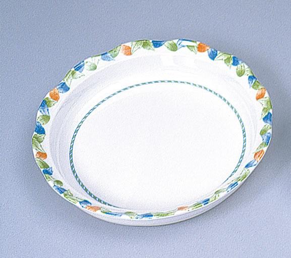 なごやかな食器 リーフ柄 深皿【介護用食器/ユニバーサルデザイン】