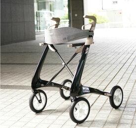 カーボン製歩行車 スリムライン 屋外用【歩行補助/歩行器/Carbon Ultralight rollator】
