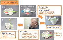 パラリンコップ【片まひの歯磨き自助具・口腔ケア】