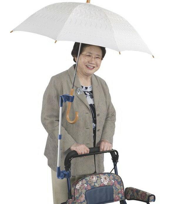 車いす・シルバーカー用傘ホルダー【車いす用傘スタンド】