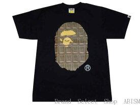A BATHING APE(エイプ)VALENTINE CHOCOLATE APE HEAD TEE【Tシャツ】【ブラック】【日本製】【新品】バレンタイン限定【BAPE/ベイプ】