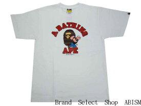 A BATHING APE(エイプ)xPOPEYE(ポパイ)POPEYE X BAPE COLLEGE TEE #2【Tシャツ】【ホワイト】【MEN'S】【新品】BAPE(ベイプ)