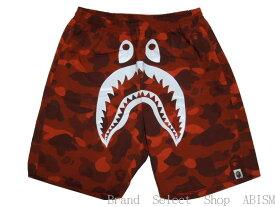 【代引き不可】A BATHING APE(エイプ)COLOR CAMO SHARK BEACH PANTSシャーク ビーチパンツ 【レッド】【Men's】【新品】BAPE/ベイプ