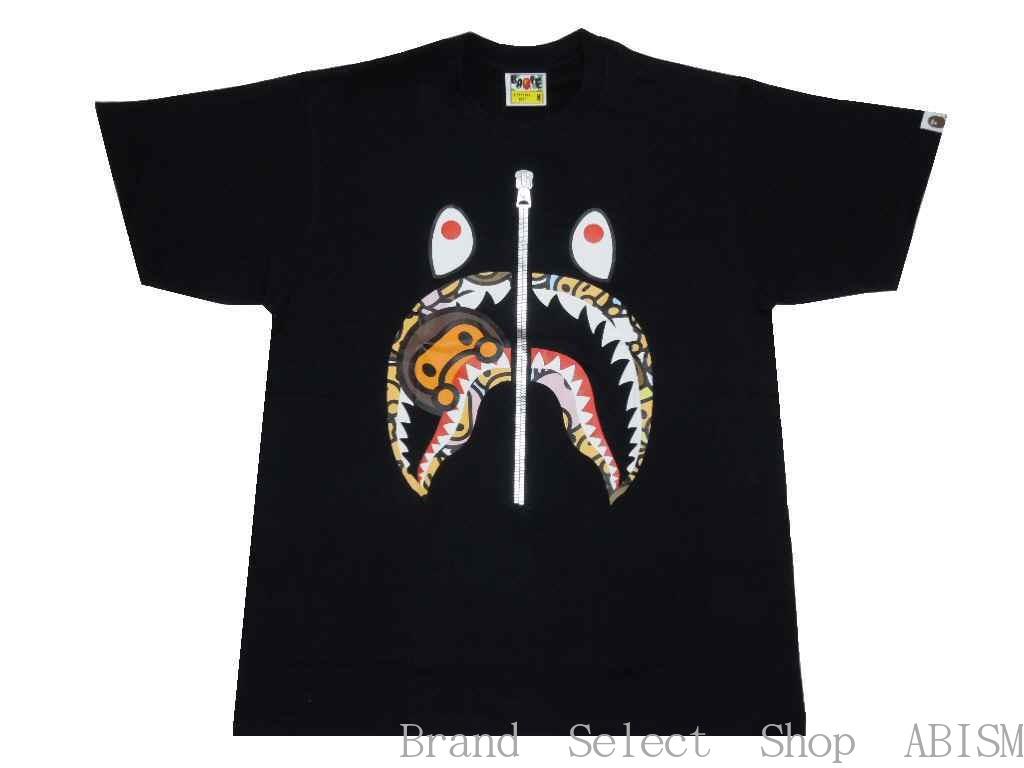 【代引き不可】A BATHING APE(エイプ)ALL BABY MILO MULTI MILO SHARK TEE【Tシャツ】【ブラック】【新品】【MEN'S】【BAPE/ベイプ】