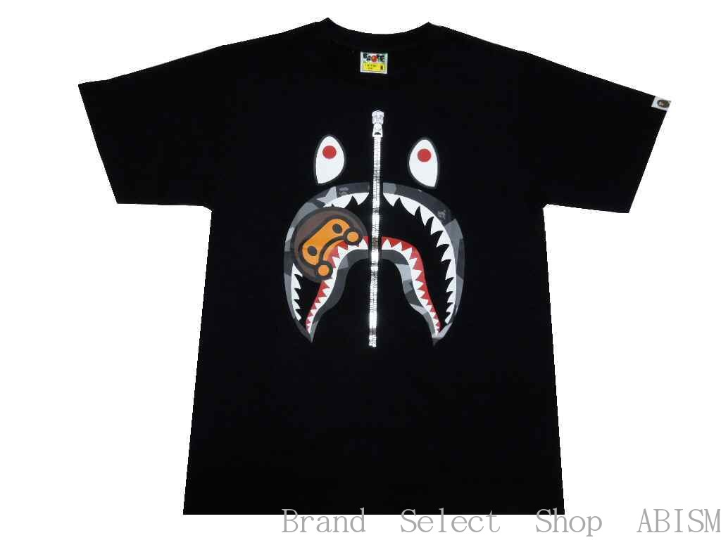 【代引き不可】A BATHING APE(エイプ)SPLINTER CAMO MILO SHARK TEE【Tシャツ】【ブラック】【新品】【MEN'S】【BAPE/ベイプ】