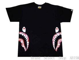 【代引き不可】A BATHING APE(エイプ)ABC SIDE SHARK TEE【Tシャツ】【ブラック×ピンク】【新品】【MEN'S】【BAPE/ベイプ】