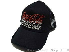 YOSHINORI KOTAKE(ヨシノリコタケ)x BARNEYS NEWYORK(バーニーズニューヨーク)x CocaCola(コカ・コーラ)[CocaCola]ロゴ MESH CAP【ブラック】【メッシュキャップ】【新品】