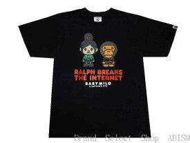 A BATHING APE(エイプ)xシュガー・ラッシュ:オンラインRALPH BREAKS THE INTERNET MILO TEE #2【Tシャツ】【ブラック】【日本製】【新品】【MEN'S】BAPE(ベイプ)