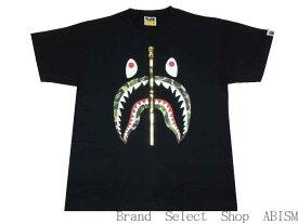 A BATHING APE(エイプ)ABC SHARK TEE【Tシャツ】【ブラックxグリーンCAMO】【新品】【MEN'S】【BAPE/ベイプ】